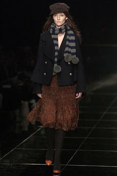 Burberry Fall 2005 Ready-to-Wear Fashion Show - Audrey Marnay