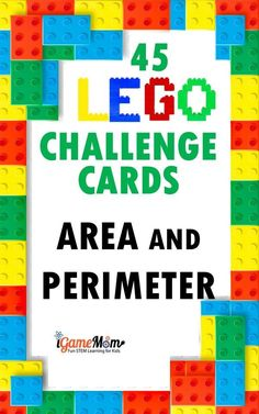 Old LEGO bricks at home? LEGO math build challenge to learn area and perimeter concepts, spacial reasoning, logic thinking, problem solving. fun STEM challenge with 50 challenge cards. Hands-on math game for kids learn geometry, great for math center, math club, after school practice. #LEGOchallenge #MathGame #LEGOmath #MathActivities #STEMactivities #STEMforKids #STEMeducation #iGameMomSTEM