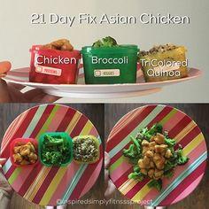 21 Day Fix Asian Chicken Sauce is: 1t coconut aminos 1t honey 1t sriracha