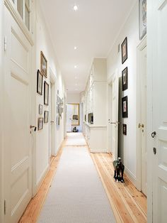 Hallway - love the light idea. Makes it look bright and airy.