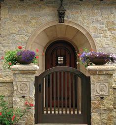 Beautiful door and gate.