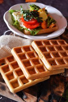 Gofry bezglutenowe wytrawne | Kulinarna Maniusia: Blog kulinarny. Przepisy kulinarne. Gluten Free Recipes, Free Food, Waffles, Clean Eating, Cooking Recipes, Keto, Vegan, Breakfast, Blog