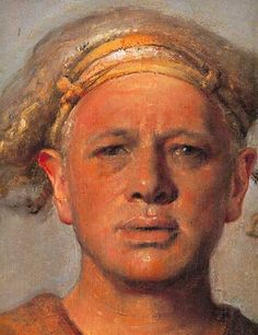 odd nerdrum, self portrait - Norwegian contemporary artist painting in the style of the Old masters