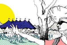 Johanna Sinkkonen @ RUIS ROCK 2017 | Vuoden 2016 Ruisrockin aikana kuvataiteilija Johanna Sinkkonen sketchaili ympäri festivaalialuetta. Näiden luonnosten pohjalta taiteilija laatii kuvajatkumon, joka nähdään tämän vuoden festivaalilla valmiina teoksena. Ruisrockiin sijoittuva kuva saa ympärilleen massiiviset kultakehykset.  Työssään Sinkkosta inspiroivat luonto ja siellä esiintyvä valo varjoineen. Luonnostellessaan ympäröivää tilaa hänelle on tärkeintä piirtää sitä, mitä hän näkee sen…