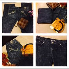 Rock & Republic Blue Jeans Size 29 Great Condition Rock & Republic Jeans Size 29 Great Pre-owned Condition.  Check out pics! ❤️❤️ Purses not included!!! Rock & Republic Jeans Boot Cut