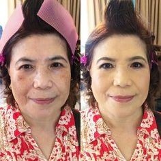 Entourage makeup for Tagaytay wedding.  #BeforeAndAfter  For bookings: 091789-AIMEE (24633) | VIBER 09473370558  #maccosmetics #makeupforever #mufe #kpalette #nars #urbandecaycosmetics #maybellineph #makeupartistph #makeupartist #hmua #hmuaph #mua #muaph #makeup #hairstylist #hair #beauty #weddingsph #entourage