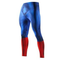 SuperHero Compression Leggings Feel and look like a Super Hero during your workout. Form Fit Mens Workout gear