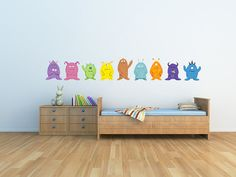CHOOSE ONE From 9 Cute Monster Wall Decals