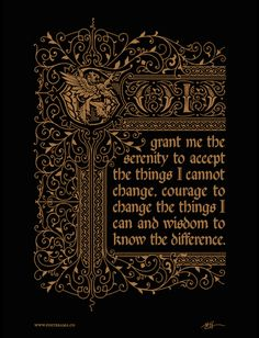 Top 10: Serenity Prayer typography posters – www.posterama.co