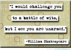 Shakespeare.. subtly insulting people since 1590