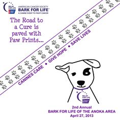 Bark For Life of the Anoka Area on April 27, 2013 at The Draw in the COR of Ramsey, MN. You could print coloring pages and have a business do a coloring contest to raise awareness!