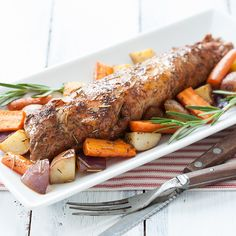 When the weather cools, it's time to turn on the oven. This easy recipe roasts both the pork tenderloin and the vegetables in the same pan with delicious results. Photo credit: Lindsay Landis from Love & Olive Oil.