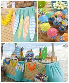 Surfin' Safari Surf themed birthday party via Kara's Party Ideas   KarasPartyIdeas.com #surfparty (3)