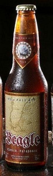 Cerveja Beagle Fuegian Red ale, estilo Irish Red Ale, produzida por Beagle, Argentina. 6.6% ABV de álcool.