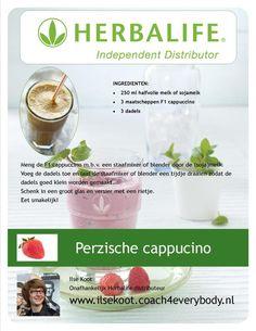 Een heerlijke cappucino shake met dadels #Herbalife