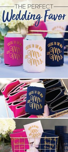 Give your guests a thoughtful gift with customized wedding can coolers! Select from unique styles that fit cans, bottles, pint glasses and cups. We offer up to 54 products colors to accent any wedding theme. Browse hundreds of imprint designs or upload your own artwork. We make it easy to give your guests wedding can coolers they can keep!
