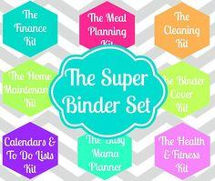 INSTANT DOWNLOAD-  Home Organization Pdf Documents- 8 PRiNtAbLe Sets Included- The Super Binder Set