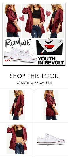 """""""romwe"""" by uitwaaien ❤ liked on Polyvore featuring Converse, Hedi Slimane, Charlotte Olympia, contest, romwe and contestentry"""