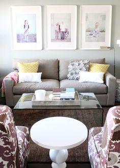 Enlarge family photos & frame - Ikea frames!