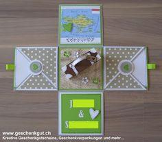 Überraschungsbox Explosionsbox Geschenkgutschein Geldgeschenk Reise Geburtstag…