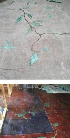 Fresh Basement Floor Cracks