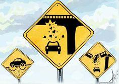 Nouveaux panneaux routiers au Québec...