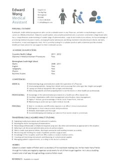 Resume Writing Examples, Basic Resume Examples, Professional Resume Examples, Resume Objective Examples, Medical Assistant Resume, Student Resume, Job Resume, Administrative Assistant, Student Jobs