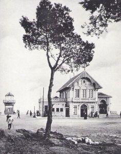 Tibidabo. Estación del funicular del Tibidabo, años '10 del siglo XX.