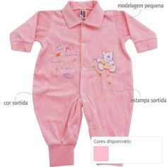 Macacão de Bebê Menina em Plush Sortido - Ratel :: 764 Kids   Roupa bebê e infantil