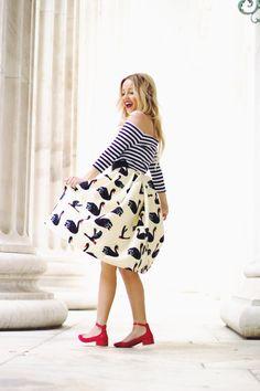 Swan skirt #summerstyle #redflats #mixingprints