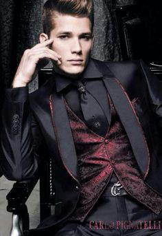 Halloween goth wedding groom Source by jackboss High Fashion Men, Work Fashion, Mens Fashion Suits, Mens Suits, Fashion Clothes, Style Fashion, Fashion Ideas, Classy Fashion, Fashion Pictures