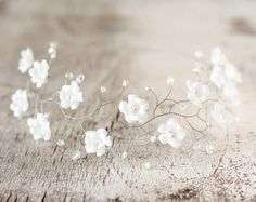 Silber Perle Haarschmuck, Blumenstirnband