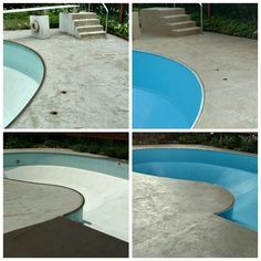 ReService - pool and deck Resurfacing with epoxy and SpreadStone Concrete Deck, Outdoor Projects, Outdoor Decor, Epoxy Floor, Exterior, Flooring, Remodeling, Water, Home Decor