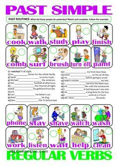 PAST SIMPLE - regular verbs (past routines)