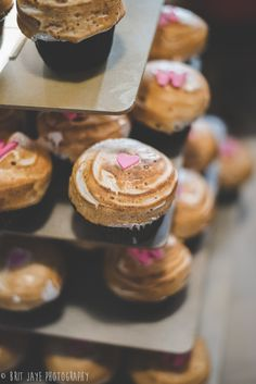 S'mores Cupcakes! - Nickel Beer Co. Brewery Wedding reception - Simple & elegant Park wedding in Julian, California. - for more ideas and wedding & engagement photography inspiration, check out my blog! www.britjaye.com/blog —San Diego Wedding & Engagement Photography  #sandiegoengagementphotography #weddinginspiration #weddingphotos #weddingphotographer