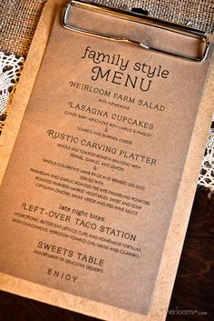 Menu Design idea for @Summeripe Worldwide, Inc. Worldwide, Inc.