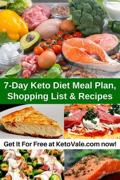 Get our 7-day weight loss meal plan and 30-day keto meal plan for your ketogenic diet here! via @ketovale