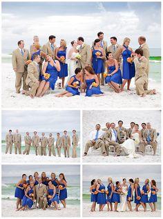 Taupe  Royal Blue Wedding