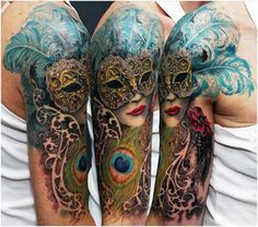15 Best Mask Tattoo Designs | StyleCraze