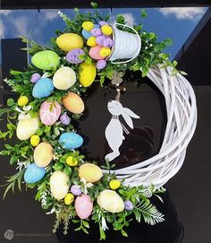 Easter Wreaths, Holiday Wreaths, Pop Up Flower Cards, Easter Egg Designs, Christmas Swags, Easter Holidays, Arte Floral, Easter Crafts For Kids, Diy And Crafts