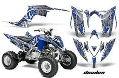 350, Warrior yamaha Decal White//Silver Full Color Sticker Graphic 14pc ATV QUAD