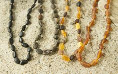 Baby teething necklace Baltic Amber baby necklace made from