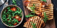 Chorizo, Sandwich Croque Monsieur, Grill Pan, Bacon, Grilling, Brunch, Food And Drink, Bread, Kitchen