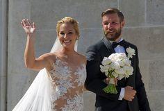 Dominika Cibulkova and Michal Navara married - Photo courtesy AFP