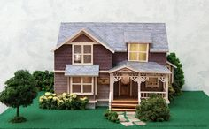 Handcrafted Quarter Scale The Crockett House - at Norman&squo;s Country Creek