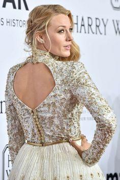 Blake Lively in Chanel at the 2016 amfAR New York Gala at Cipriani Wall Street on February 10, 2016 in New York City, NY, USA