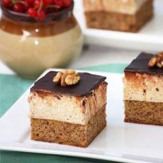 Csokis-diós kocka Naan, Cheesecake, Paleo, Pudding, Food, Cheesecake Cake, Cheesecakes, Essen, Puddings