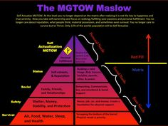 The MGTOW Maslow.