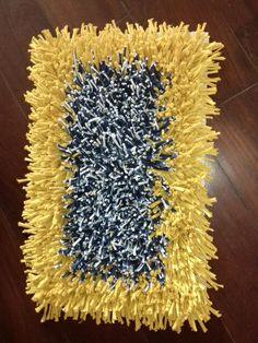 Tapete retangular Mostarda/azul