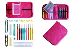 Ergonomic Crochet Kit & Needle Case Organizer  -  Totally Crochet | Crochet Stitch Library